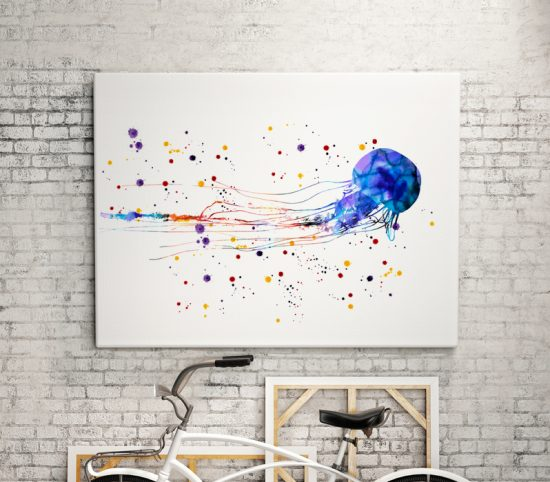 Wall art Beautiful Jellyfish