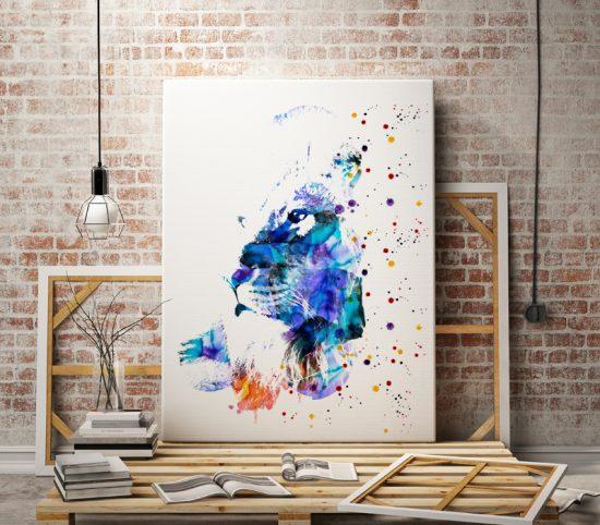 Wall art Beautiful Lion