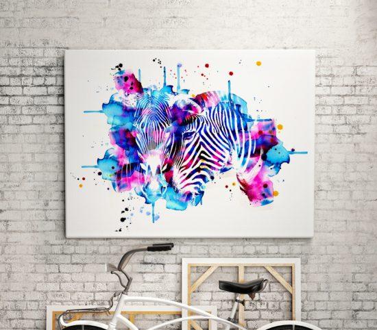 Zebras Love Wall art