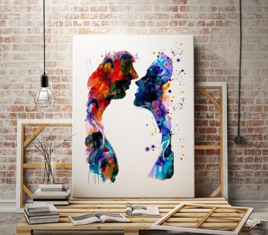Art poster Loving couple
