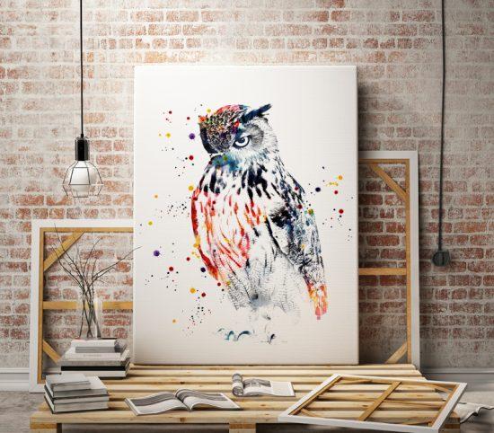 Art poster Owl 2