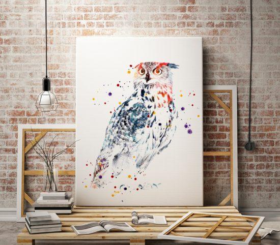 Art poster Owl