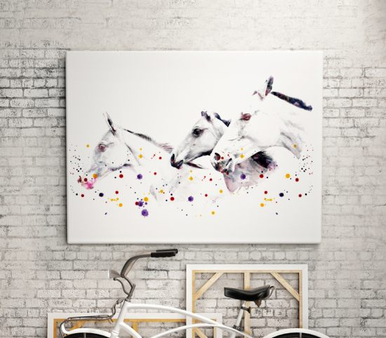 Art print with horses