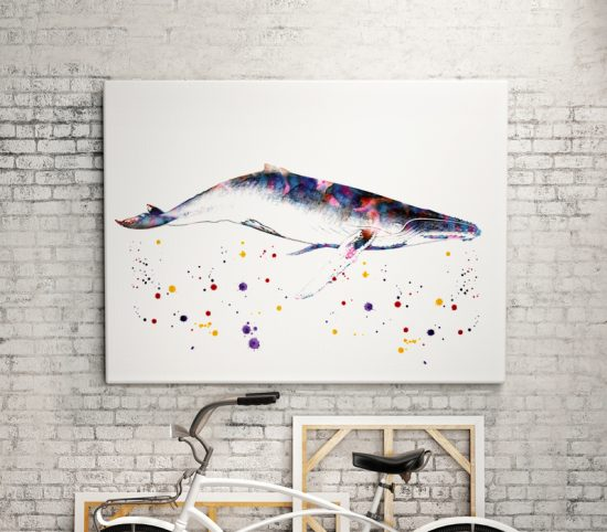 Wall poster Whale
