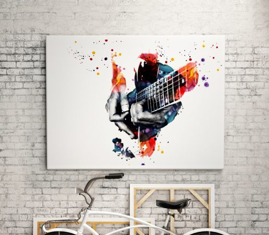 Wall poster with Guitar