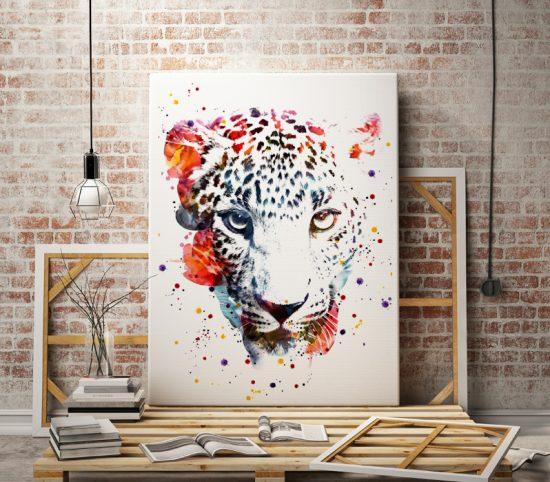 Wall print Leopard