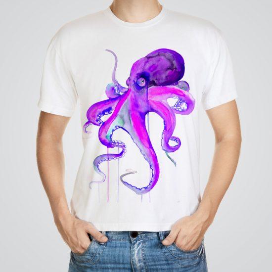 Violet octopus t-shirt
