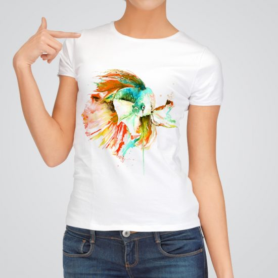 Colorful Betta fish fashion tee