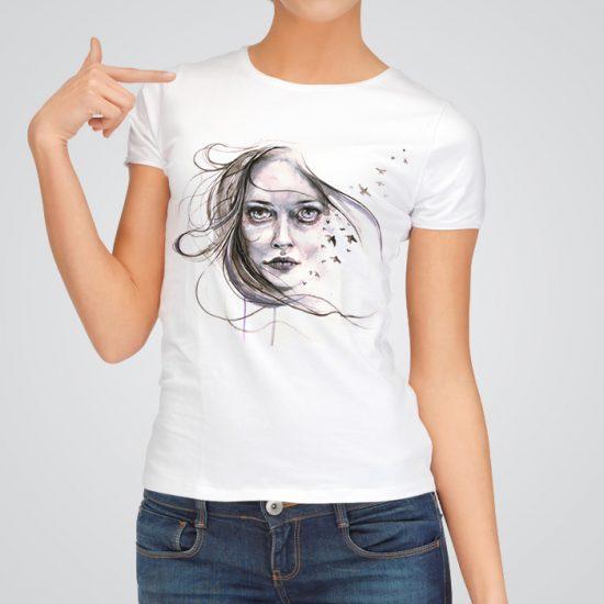 Unique art t-shirt for women
