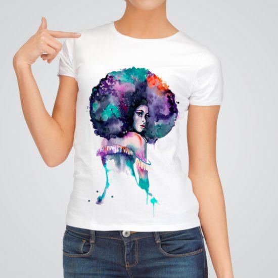 Afro American woman t-shirt